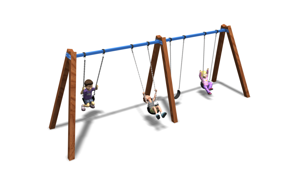 Timber A-Frame Swing - 2 Bay
