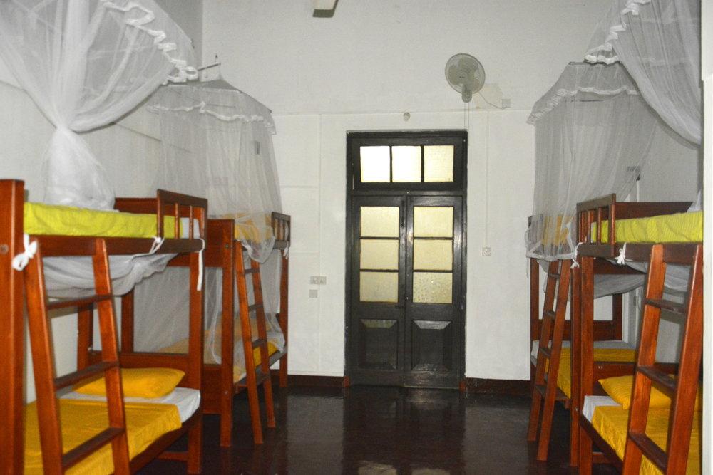 Female Dorm Looking to Doors