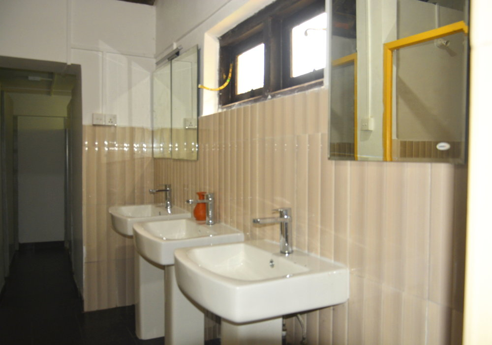 Sinks in Shared Female Bathroom
