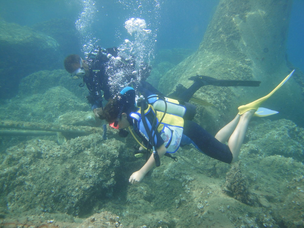 Kids can enjoy SCUBA diving in the rich waters of Elba