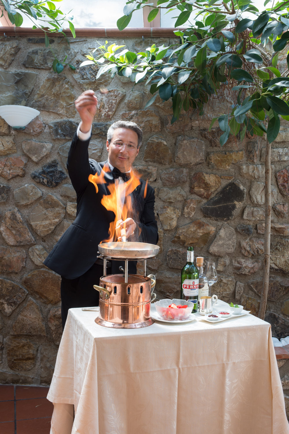 Indulge in some flambé for an evening at the Hermitage