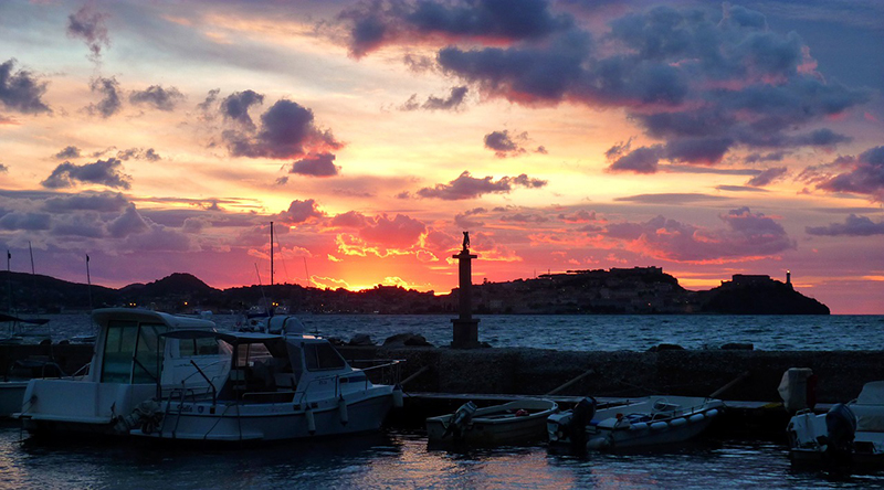 Watch the sunset over Portoferraio