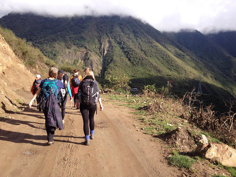 Our trek towards Machu Picchu