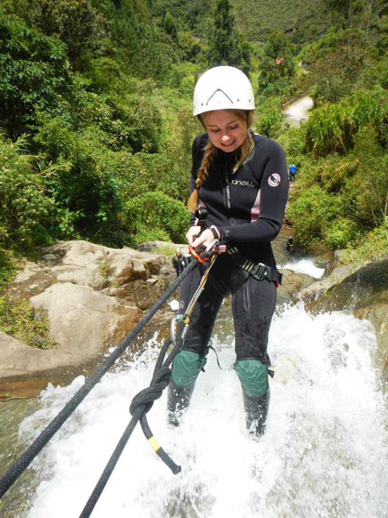 Trying my hand at canyoning