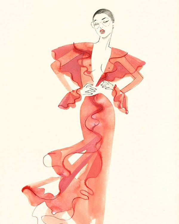 Fashionweek, SS16, Margot Mace, Margot van Huijkelom Mace, illustration, fashion, catwalk, iloveillustration, blog, artists, curated, contemporary, art, drawing, iloveillustration, anneke krull,