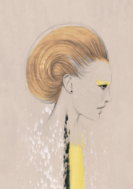 London Fashion week, Kelly Beeman, JW Anserdon, SS16, fashion, iloveillustration magazine, illustration, magazine, art, artists, contemporary art, worldwide, prints, drawings, women, digizine, Esra Roïse, Cecilia Carlstedt, Caitlin Shearer, Stina Persson, Kaethe Butcher, Ricardo Fumanal, Margot van Huijkelom, Emma Zanelli, Spiros Halaris, Masaki Mizuno, Malika Favre, Anja Kroencke, Marjolein Caljouw, Andrea Hrnjak, Noumeda Carbone, Angelika Peißker, Judit Garcia Talavera, Anna McKay, Conrad Roset, Naja Conrad Hansen curated art, anneke krull, fashion, catwalks, fashion week, SS16, Milan womenswear
