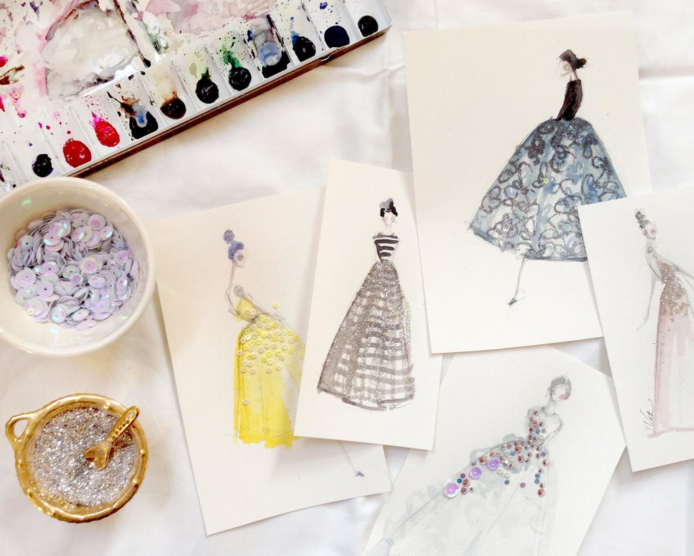 Painting with watercolors: from inspiration to fashion illustration by Katie Rodgers! -