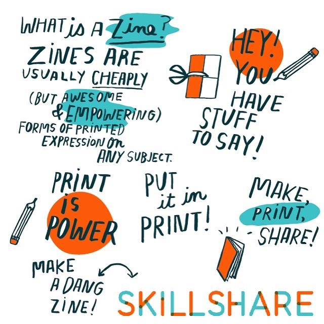 Making your first zine: from idea to illustration by Kate Bingaman-Burt! -