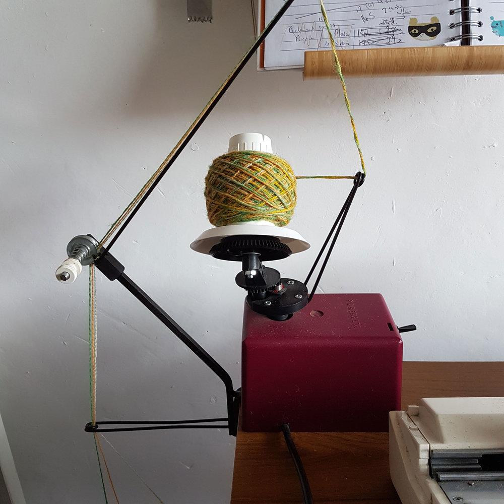 Burns, R. 2018. Yarn Twisting 1. Photograph.