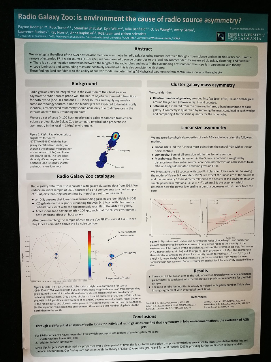 The infamous poster! I'm somewhat ashamed to admit that I had to take a quick breather mid-way through the first day after some tough questions on the methodology, but I think I'm getting back into the stride of things now.