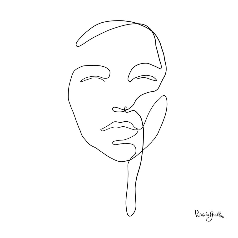 Single Line Portrait Woman ©Pascale Guillou