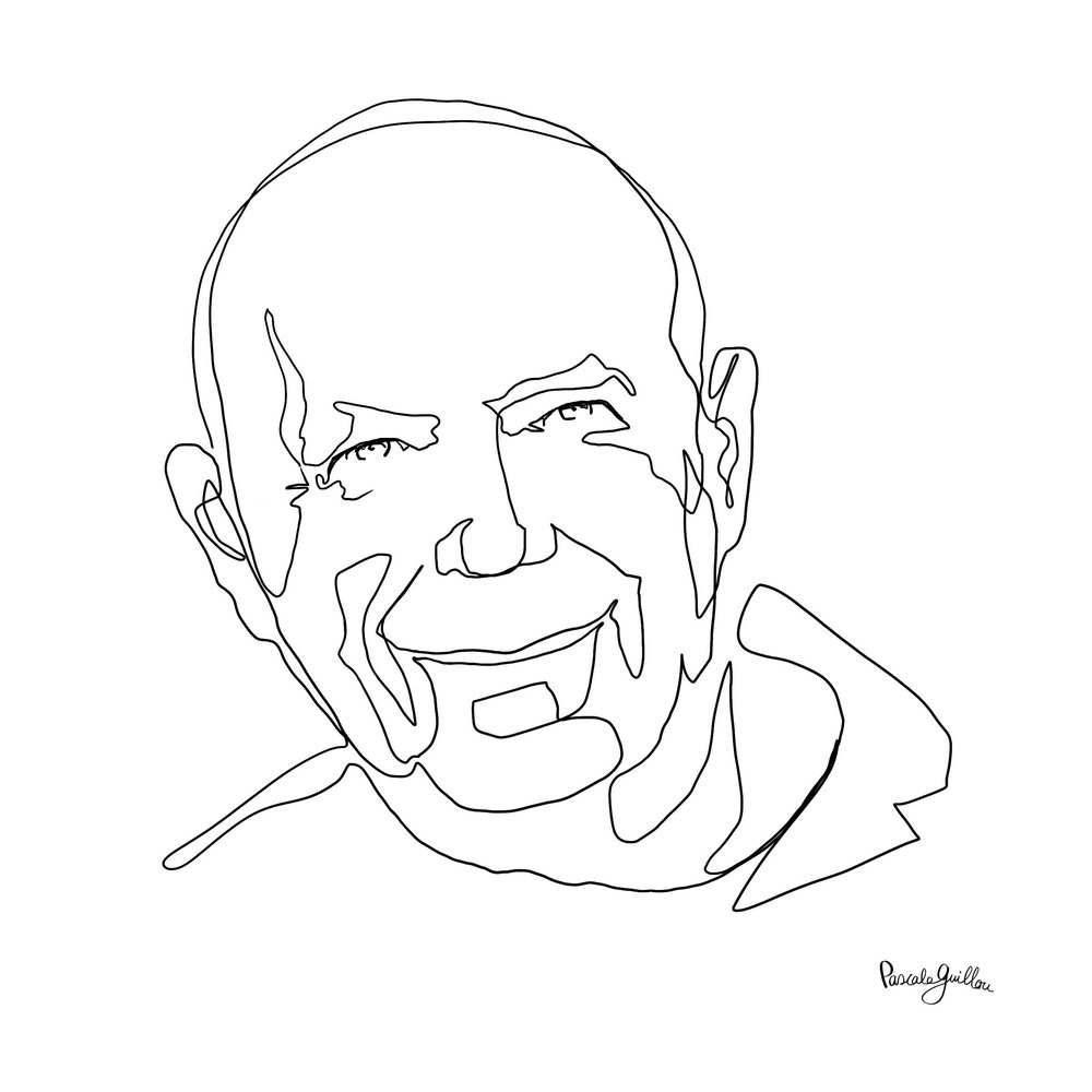 Single Line Francois Guillou Portrait ©Pascale Guillou