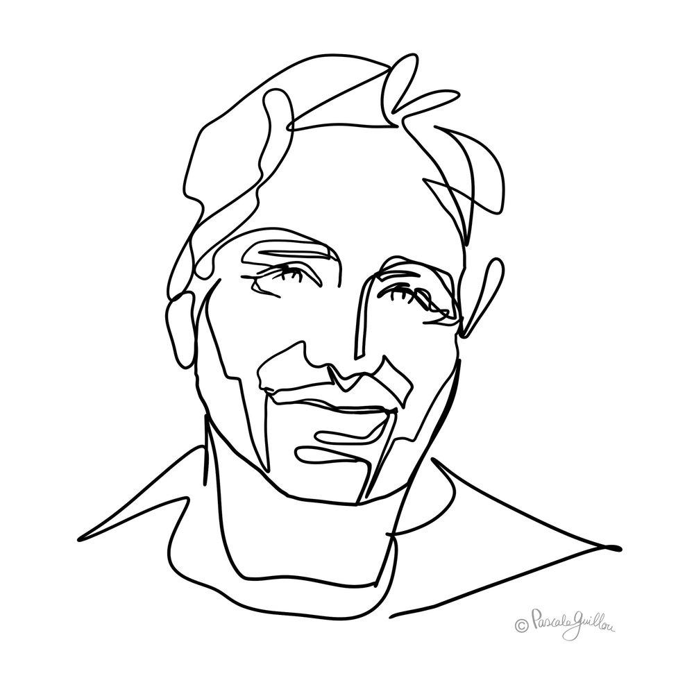 Bart Dekkers One line portrait ©Pascale Guillou