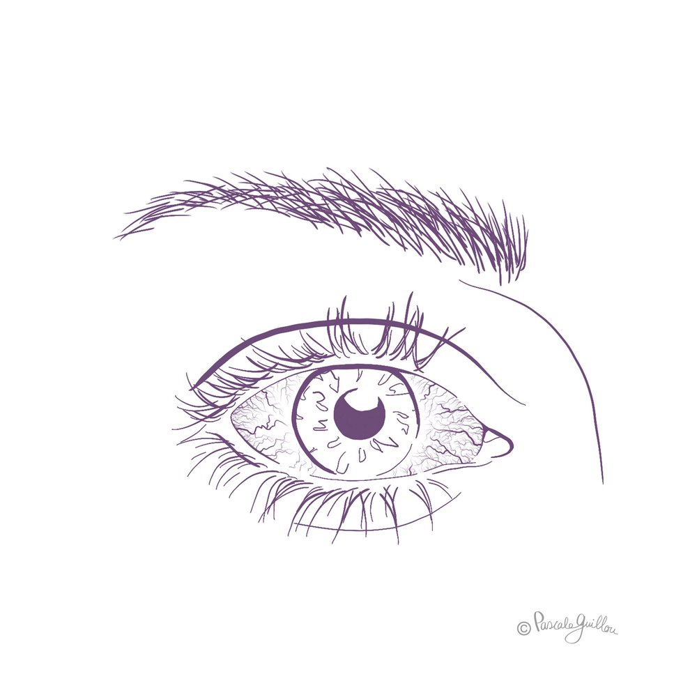 Pascale Guillou Illustration © Dry Eye Close-up.jpg