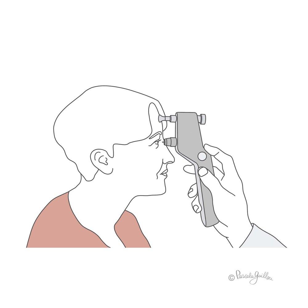 Pascale Guillou Illustration © Eye_pressure_screening.jpg