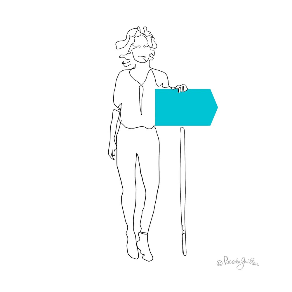 Pascale Guillou Illustration © Woman with board.jpg