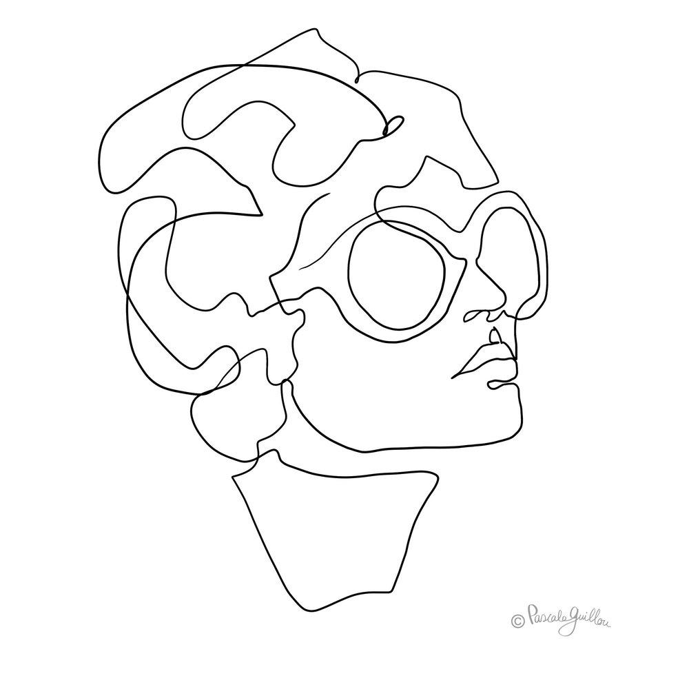 Pascale Guillou Illustration © Woman Sun Glasses.jpg
