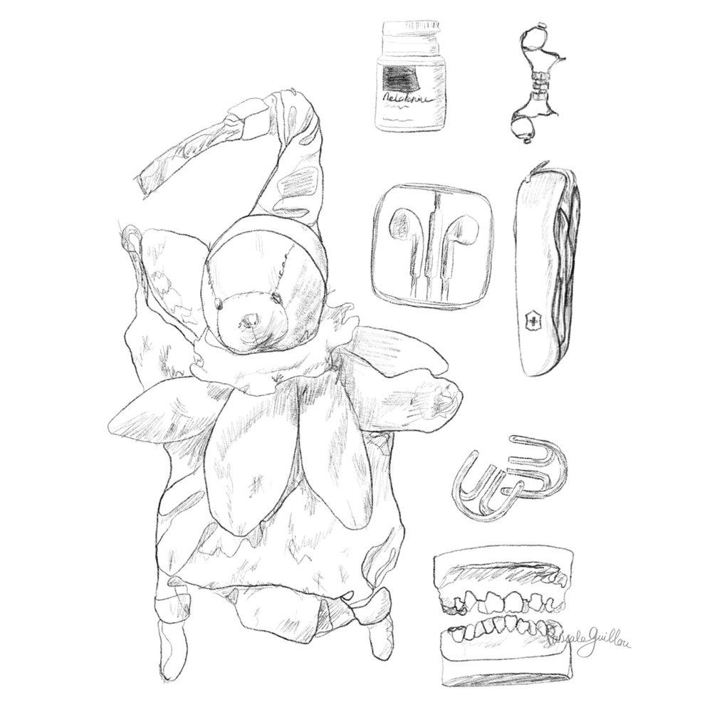 Pascale Guillou Illustration © Bedside table boy.jpg