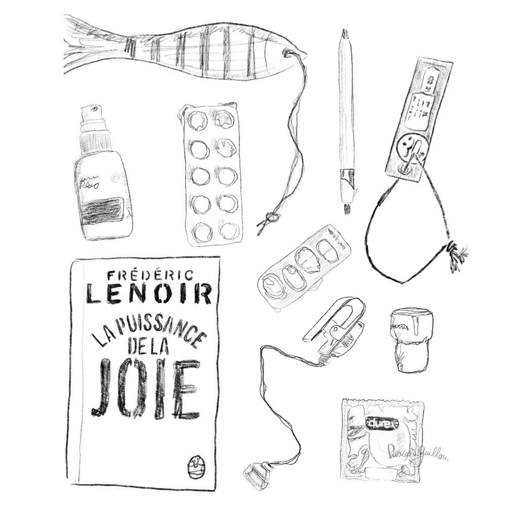 Pascale Guillou Illustration © Bedside table woman.jpg