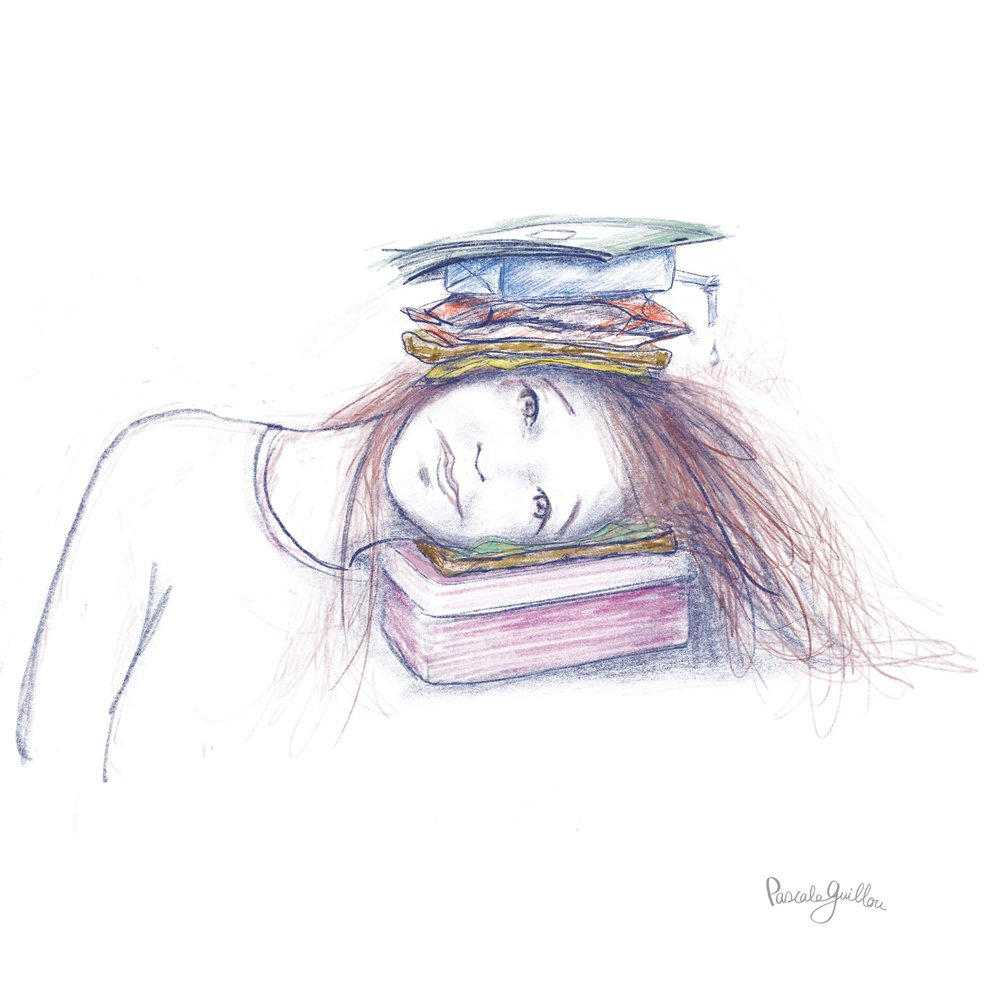 Pascale Guillou Illustration © Girl Fulltime school.jpg