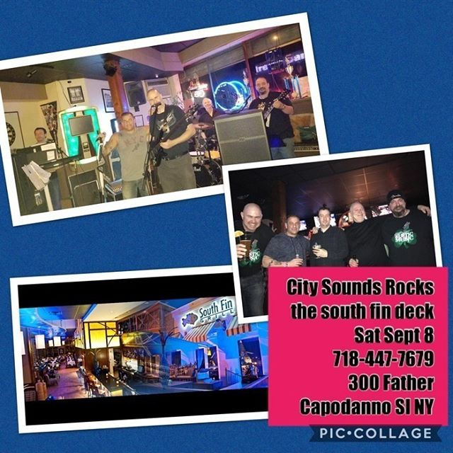 City Sounds will be back again THIS SATURDAY, September 8th! Catch them Rocking LIVE on our deck all night long!! Stay up to date on all South Fin Grill events on our website