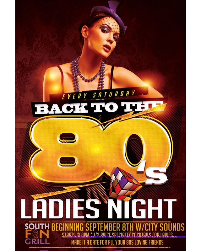 It's going to be an amazing Saturday night.... join us TONIGHT on the deck for a flash back 80s Ladies Night with City Sounds !!!