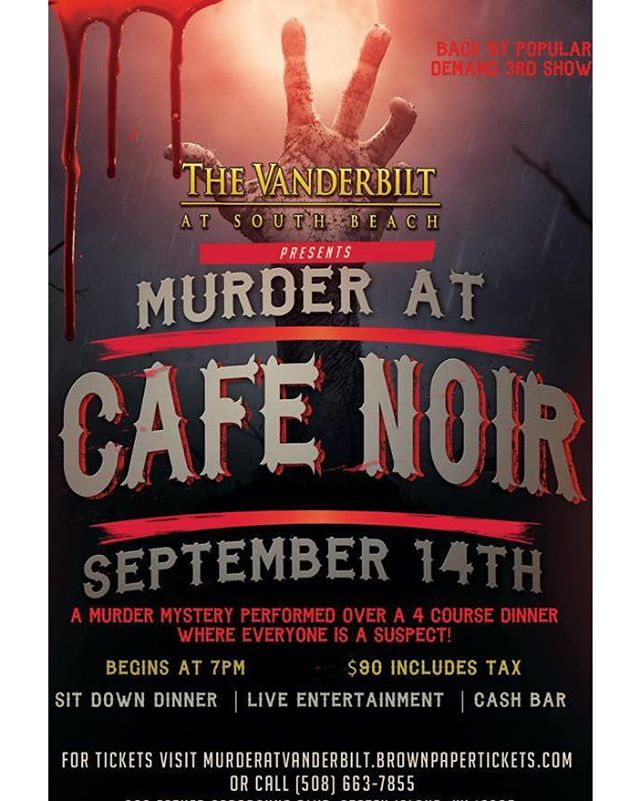 We're just TWO DAYS away!!! Who will be joining us for Murder at Cafe Noir!??
