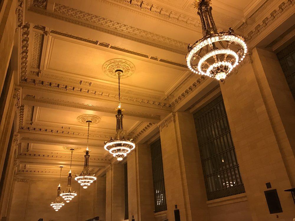 Details inside Grand Central Station.