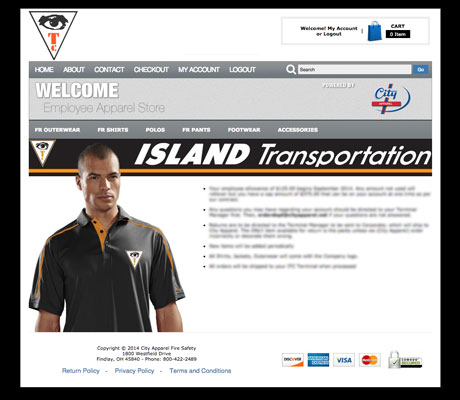 island transport web store