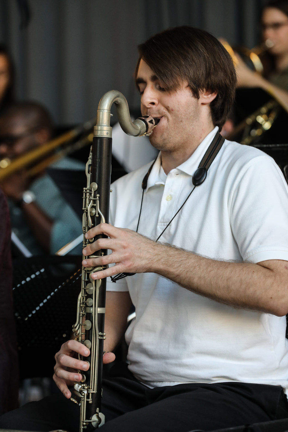 Evan Drybread, bass clarinet