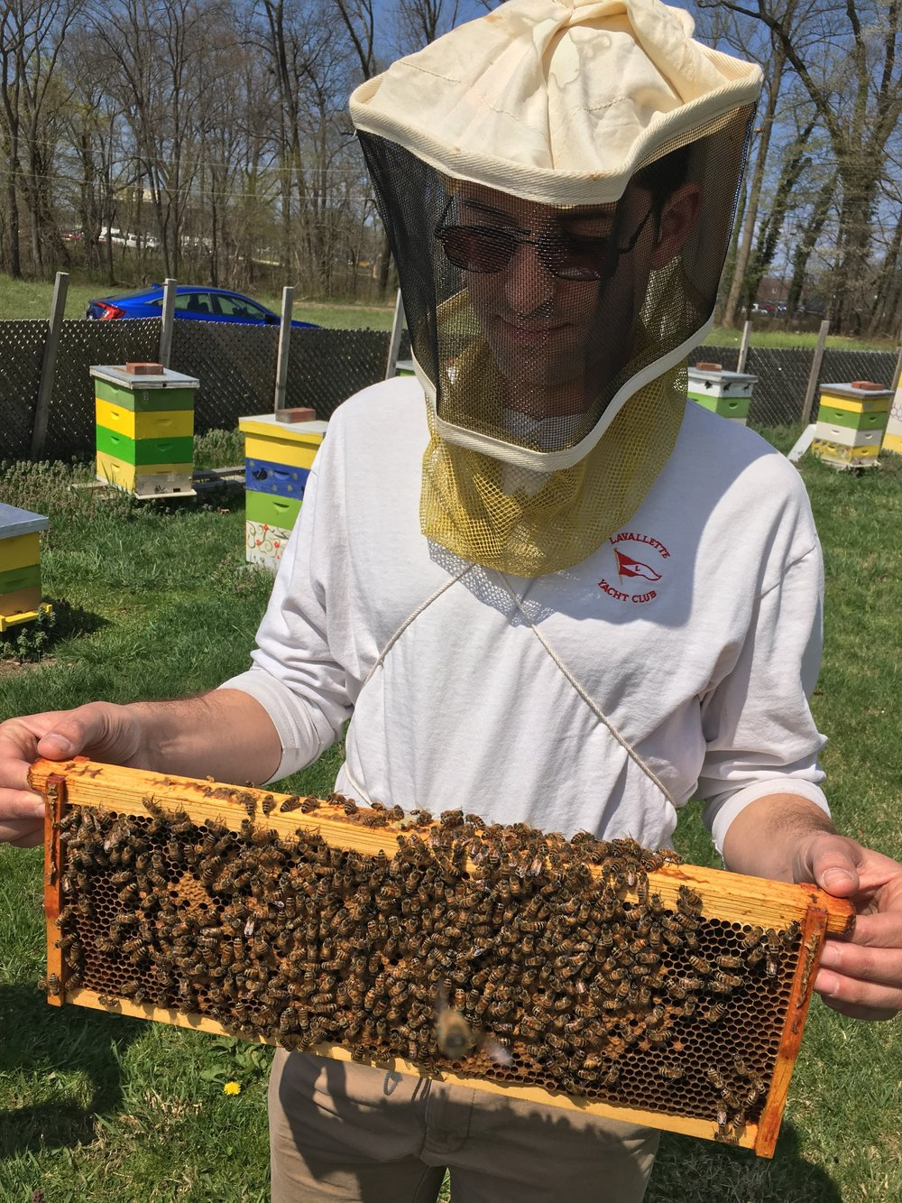 Alex Maio - Alex helps with maintaining our colonies of bees and product processing. He also is our carpenter and is helping build hive equipment.Professionally, Alex works in IT and has been a professional jazz musician for the past decade. He spends a significant amount of time fishing and jazzing.