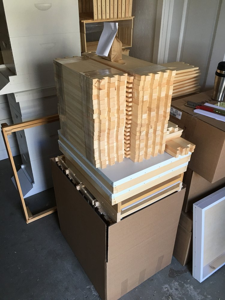 Our beehive materials from Forest Hills Woodworking