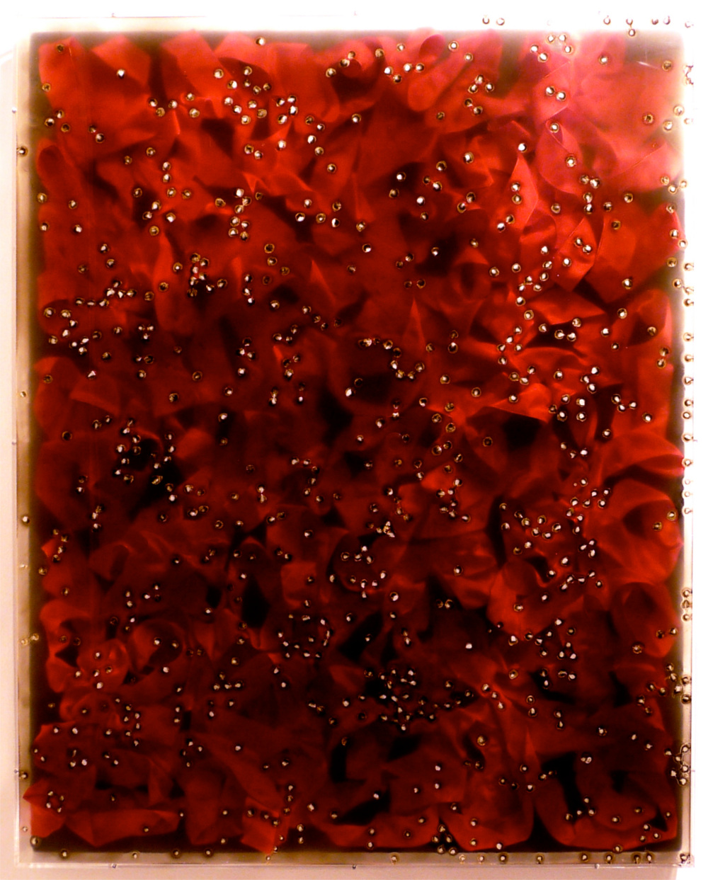 "A Delicate Mess , 2011  31"" x 39"" x 3"", mixed media, Plexibox"