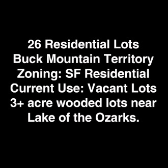 26 Lots Buck Mountain Territory - Hermitage