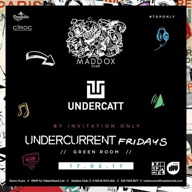 Finally we are back just in time for #LondonFashionWeek @weundercurrent Music by @undercatt courtesy of @diynamicmusic @ciroc @donjuliotequila @cirocgb @maddoxclub #Lfw #DeepHouse #HouseMusic #Music #Love #Life #house #ByInvitationOnly #WeUNDERCURRENT #seeyoulater 🔥🔥🔥🇬🇧🇬🇧🇬🇧❤❤❤