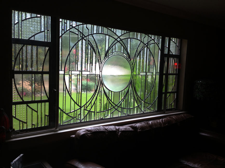 Shaylor Knight Private Residence Window<br>Stained Glass Window: Compliments Shed Brand Studios 2010