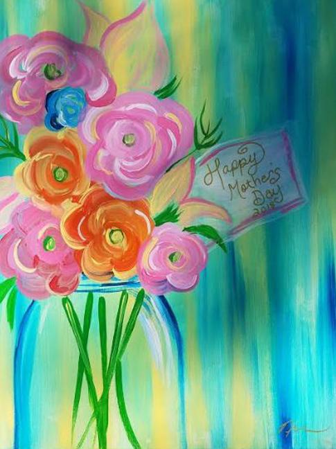 May 13th @ 1:00p - Public Paint - $50 Covers all supplies and materials.Artist: Nina J | Instructor: Nina J