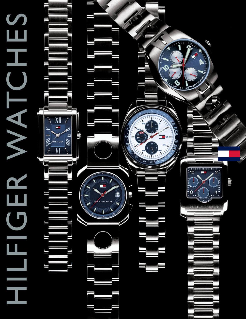 Enrique Mosqueda, creative director  archive portfolio - tommy hilfiger - watches advertising campaign