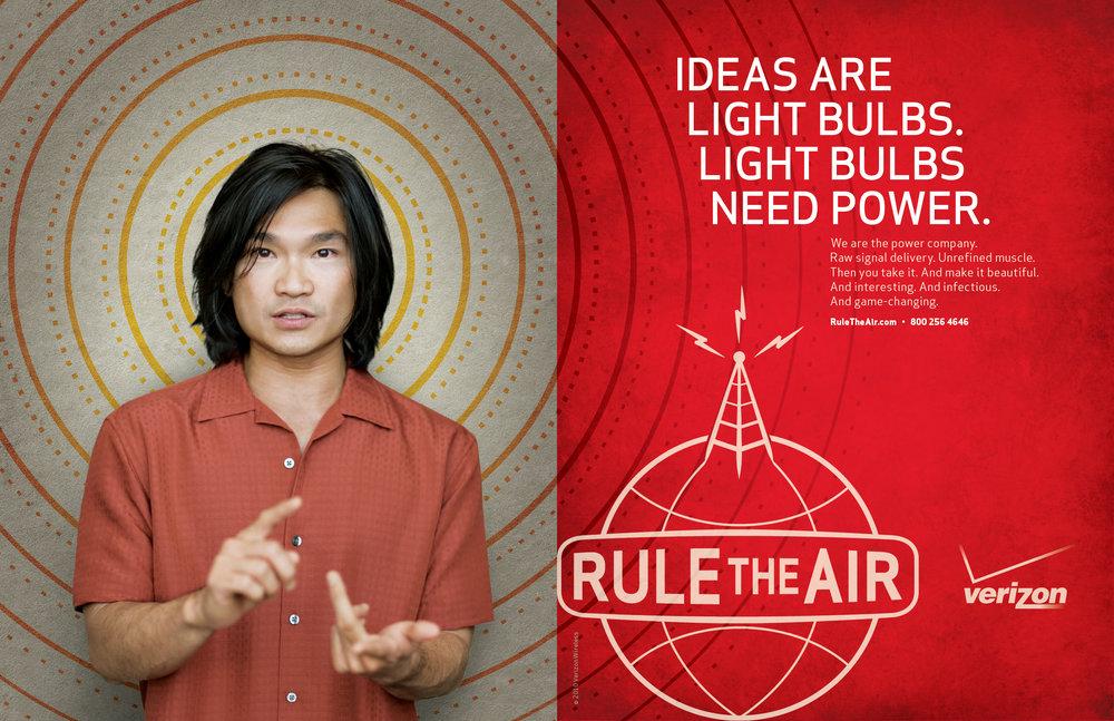 Enrique Mosqueda, creative director  archive portfolio - Verizon advertising campaign