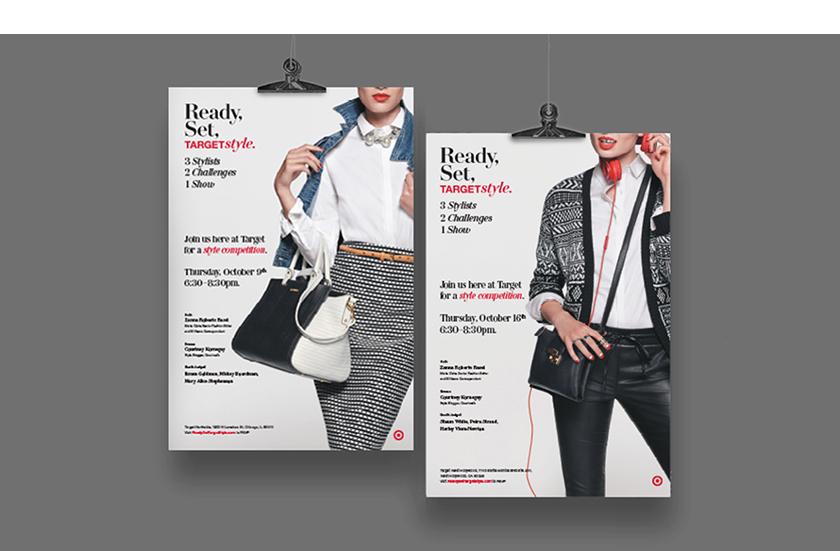 Enrique Mosqueda, creative director  archive portfolio - target style event -advertising campaigns