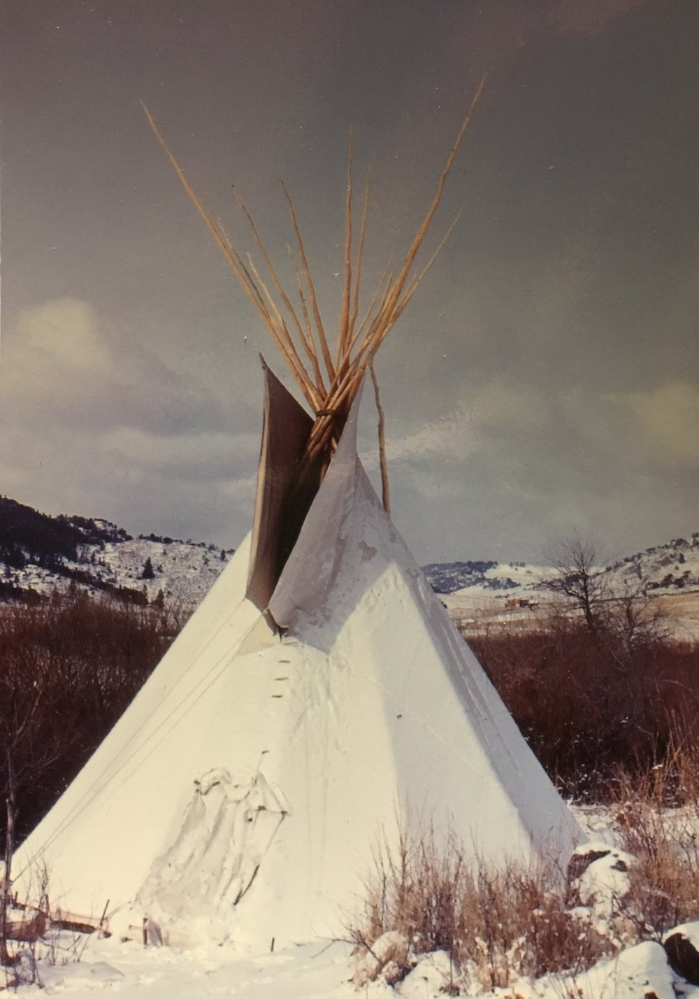 JudyJo's tipi that she constructed, north of Ft. Collins, Colorado.