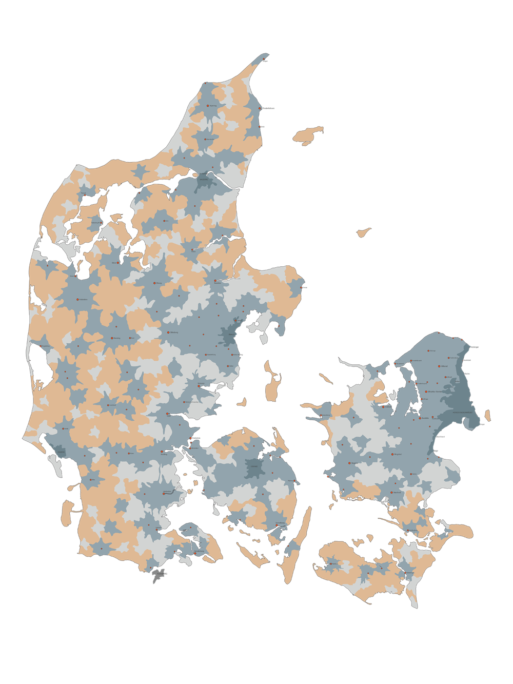Urland Affolkning i Danmark