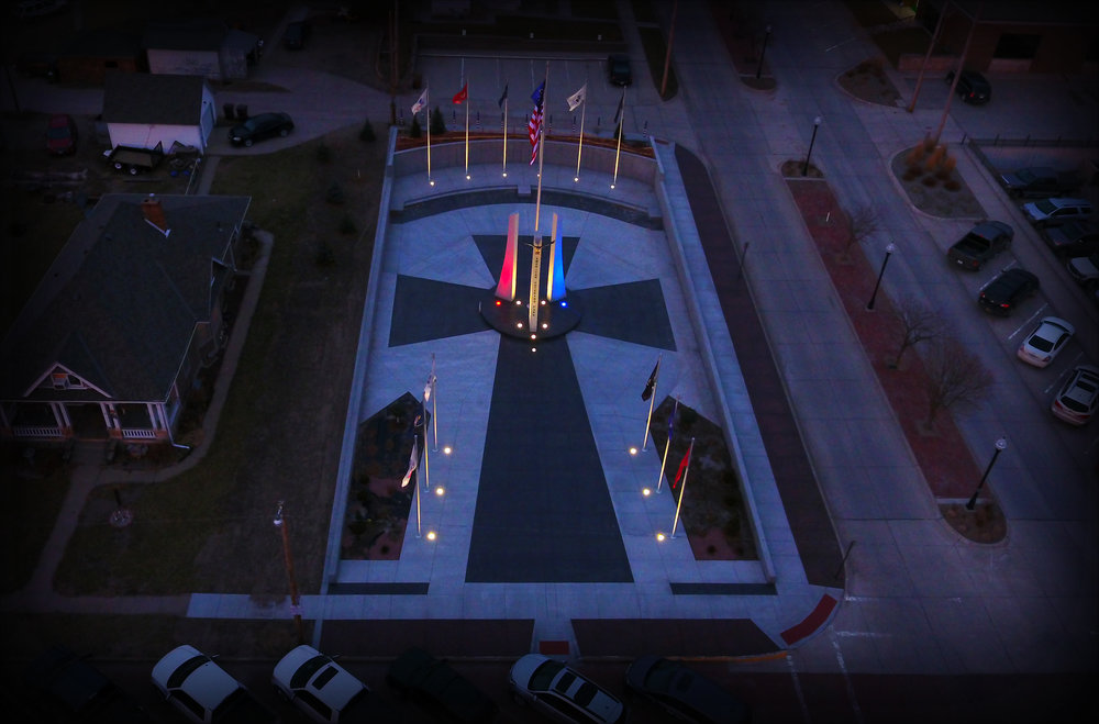 Photo by BRIAN KREIKEMEIER/ Best Point Web Design   Arial view of the American Veterans Park in West Point, Nebraska