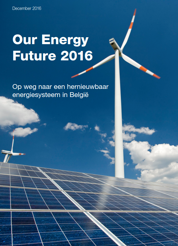 Our Energy Future 2016 is the  most recent electricity scenario  of the environmental movement with a view on  2030.  This version includes the most recent numbers for Belgium, Flanders and Wallonia. You can find the  national  and  regional  scenarios on our website, including briefings in  Dutch  and  French .