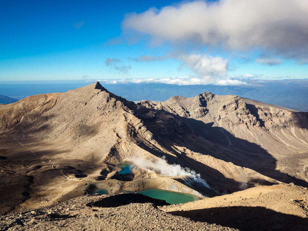 We stopped at the green lakes after summitting Mt. Ngauruhoe in the Tongariro Alpine Crossing.