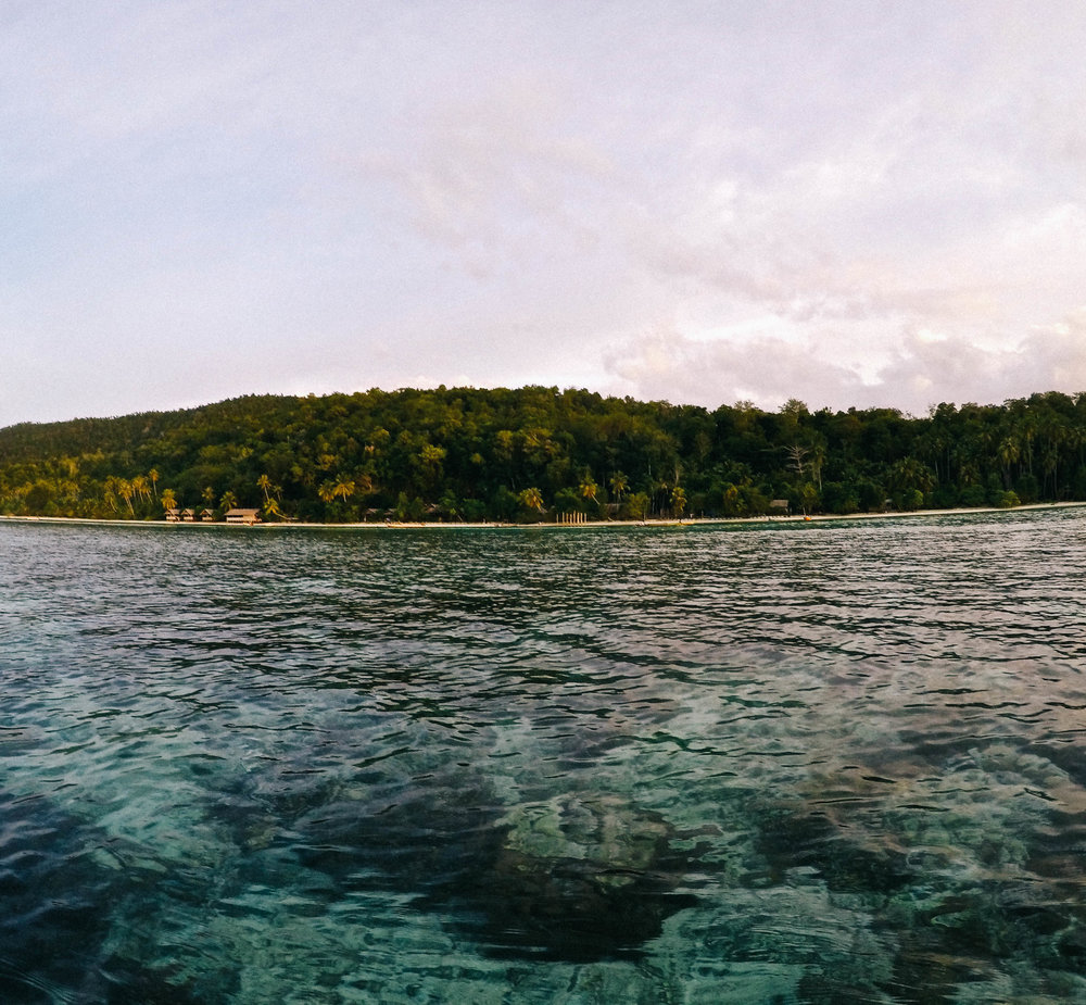 Kayaking around Kri Island...took about 2 hours and only got knocked off once;)