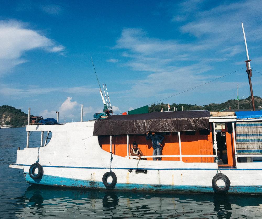 Back at the port in Labuan Bajo