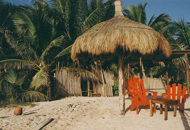Fuzzy beach scene in Tulum 🎞