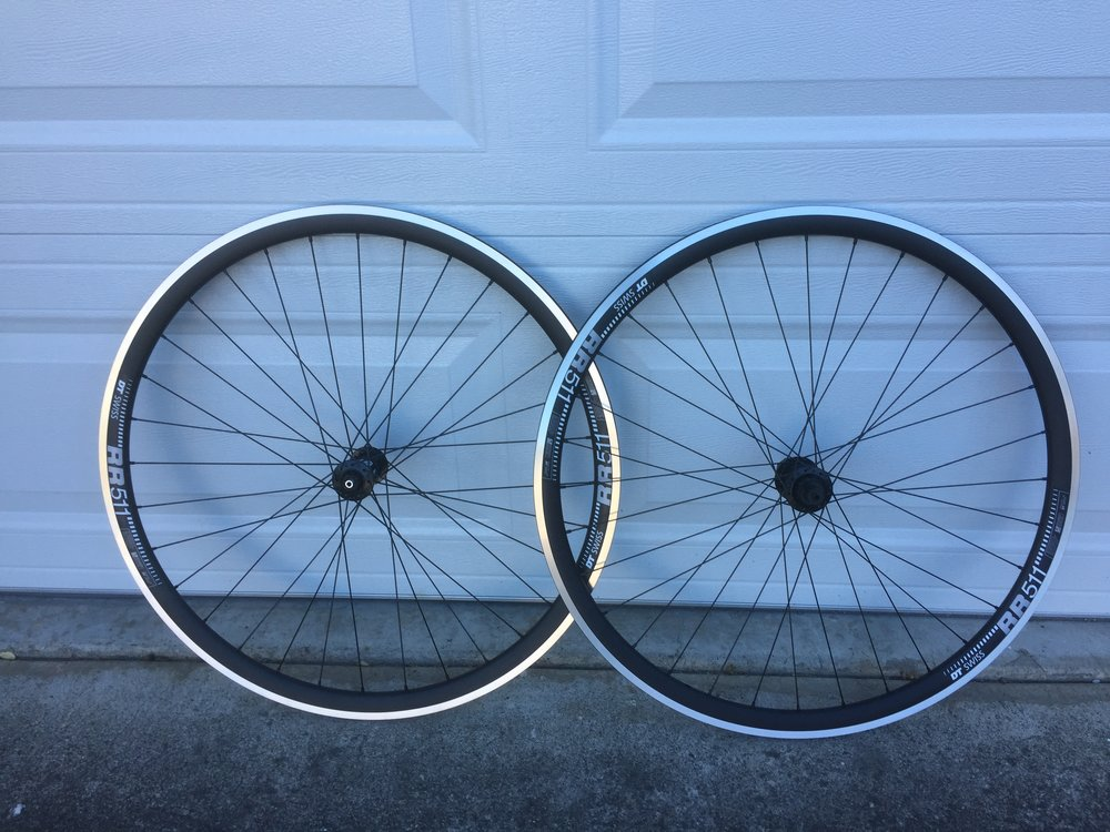 DT Swiss RR51 Rims, 32 hole, clincher road rims and DT Swiss 350 Hubs