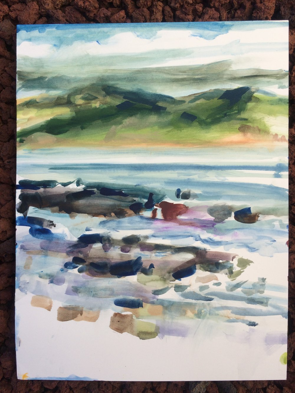 Late morning color study looking towards Faial Island, Azores.